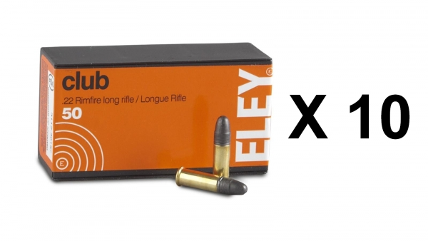 ELEY Club cal.22 Lr Lot de 500 cartouches