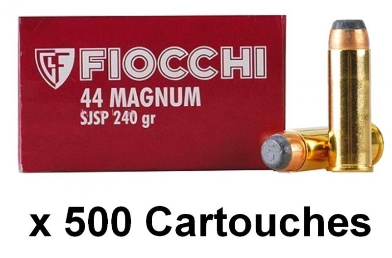 FIOCCHI cal.44 Rem MAGNUM SJSP /500 cartouches