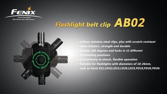 Etui de ceinture FENIX pour lampe et matraque