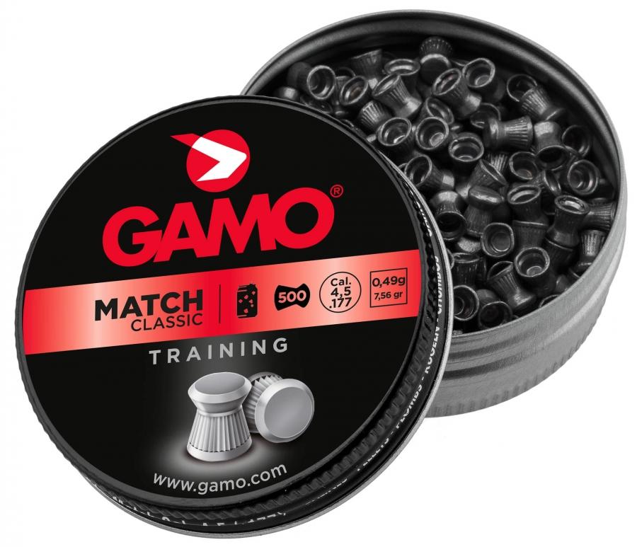 Plombs 4.5 Gamo MATCH Classic (0.49gr) x500