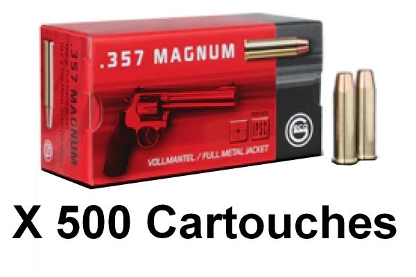 GECO cal.357 Magnum FMJ Round Nose /500 cartouches