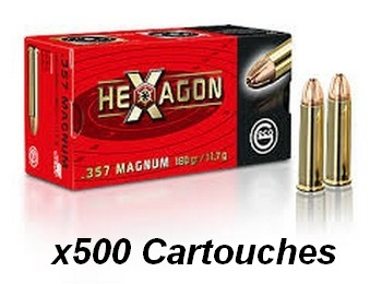 GECO cal. 357 Magnum HEXAGON /500 cartouches