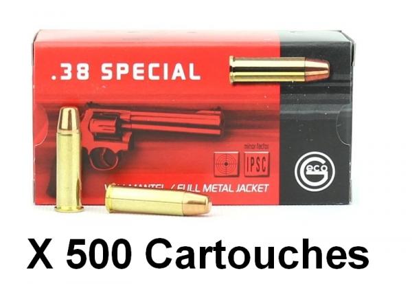 GECO cal.38 Sp�cial FMJ Flat Nose /500 cartouches