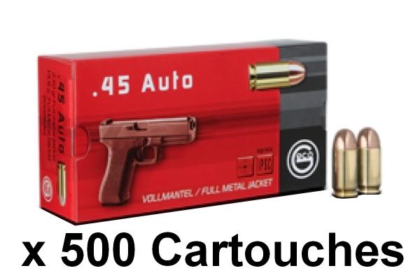 GECO cal.45 ACP FMJ Round Nose /500 Cartouches