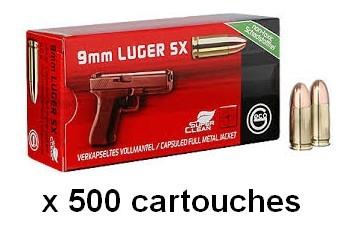 GECO cal.9mm PARA FMJ SX /500 cartouches