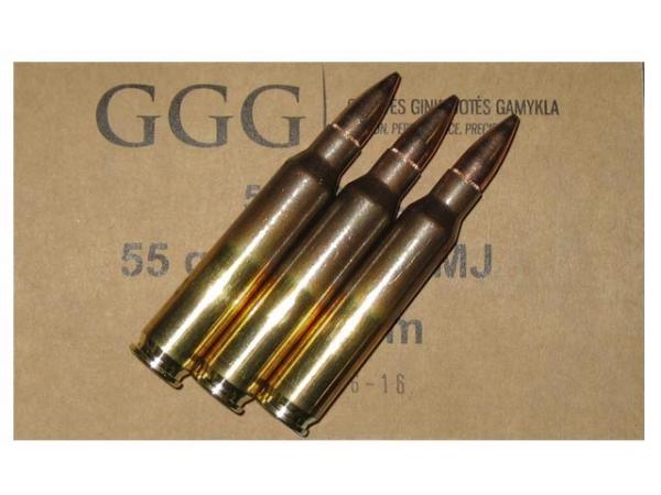 GGG caisse de 1000 cartouches FMJ 55 gr cal.223 Rem