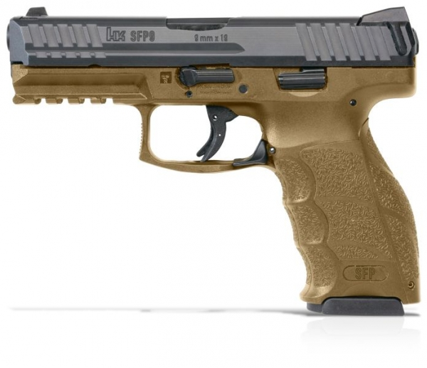 Pistolet HK SFP9-SF RAL8000 cal.9x19