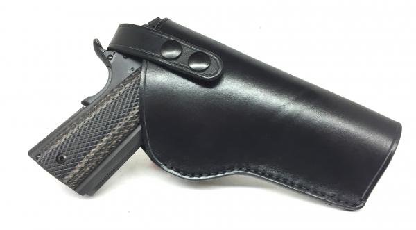 Holster droitier Cuir Noir Artisanale pour Pistolet Automatique