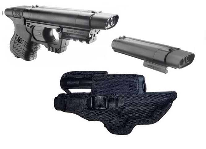 ''PACK'' Pistolet JPX Noir (Etui cordura + recharge active)