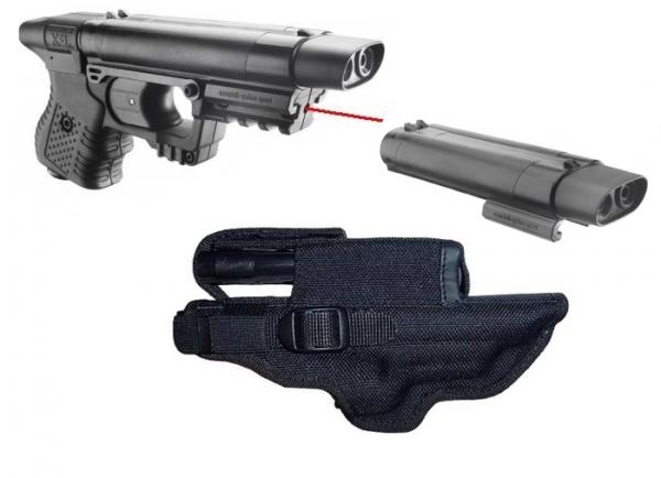 ''PACK'' Pistolet JPX 1 Noir LASER (Étui cordura + recharge active)