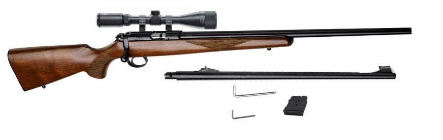 Carabine 22LR CZ 455 American avec lunette LYNX Varmint 6-24x42 AO et 1 canon 17 HMR