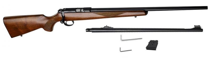 Carabine 22LR CZ 455 American et 1 canon 17 HMR