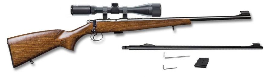 Carabine 22LR CZ 455 Standard avec lunette LYNX Varmint 6-24x42 AO et 1 canon 17 HMR