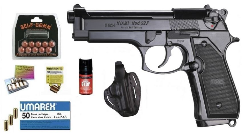 Kit EXTREME pistolet RECK BERETTA 92F Miami Bronz� cal.9mm PA UMAREX