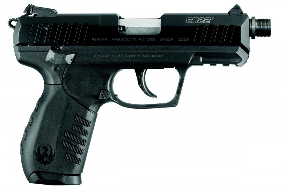 Pistolet RUGER SR22 Fileté calibre 22 Lr