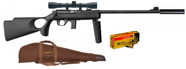 Carabine 22LR MOSSBERG Plinkster 802 Thumbhole synthetique ''Pack''