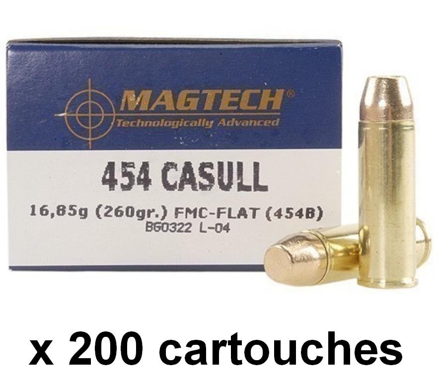 MAGTECH cal.454 CASULL FMJ-FLAT /200 cartouches