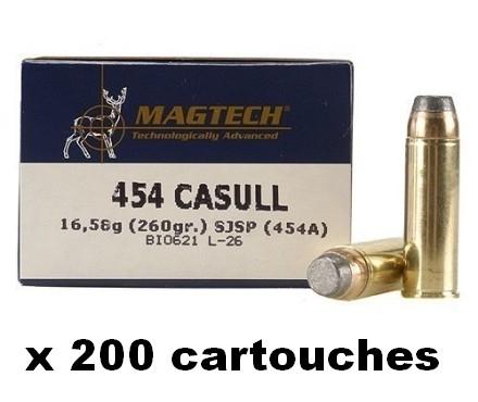 MAGTECH cal.454 CASULL SJSP-FLAT /200 cartouches