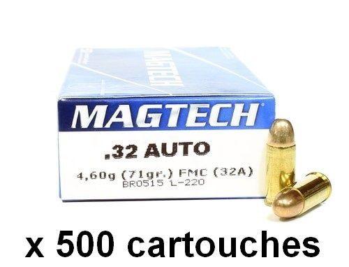 MAGTECH cal.7,65 mm (.32 Auto) FMJ /500 cartouches