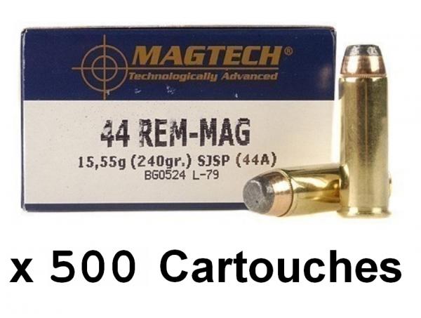 MAGTECH cal.44 Rem MAGNUM SJSP Flat /500 cartouches