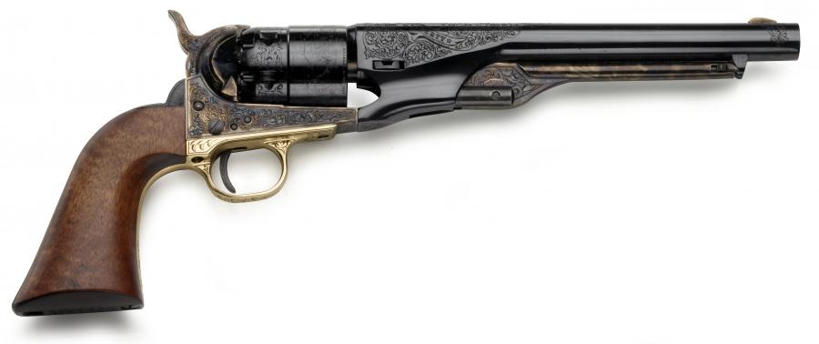 Revolver à Poudre Noire Pietta Army 1860 ARMY ''CAS44 -UNION & LIBERTY