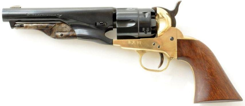 """Revolver à Poudre Noire Pietta COLT Pony Express Sheriff 1862 """"PPES36"""" Cal.36"""