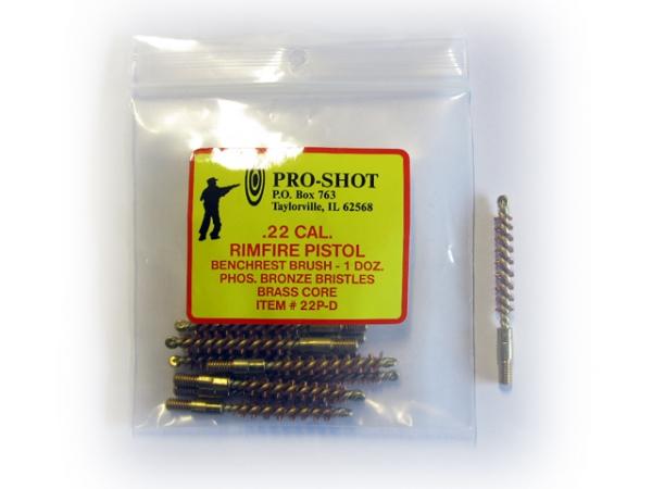 Ecouvillon en bronze PRO-SHOT cal.22 Lr - 5,56mm (223 Rem) sachet de 12