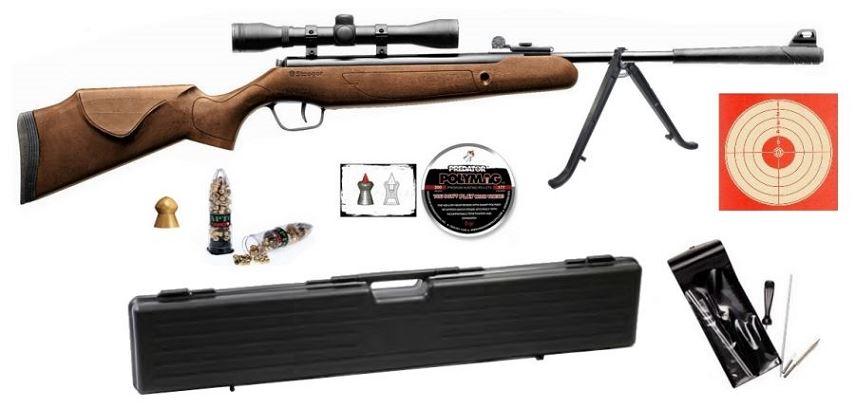 Carabine STOEGER X5 COMBO Bois ''lunette BAUER 4x32'' Pack Luxe avec mallette