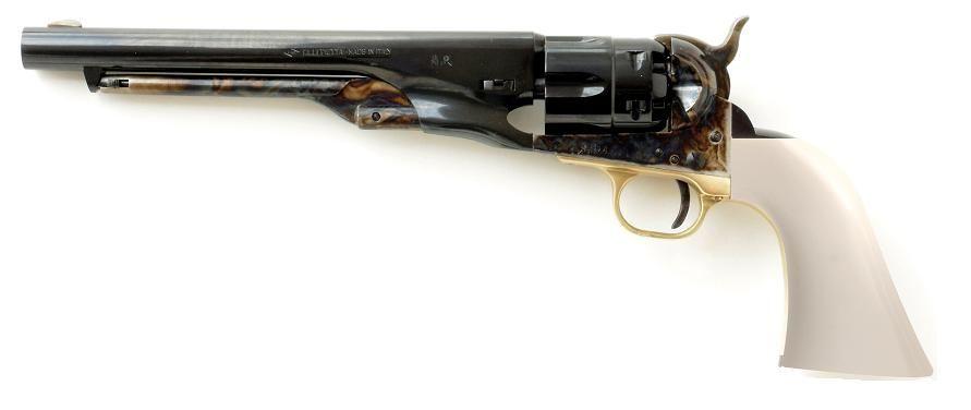 Revolver � Poudre Noire Pietta COLT Army 1860 cal.44 (crosse ivoirine, canon bronz�)