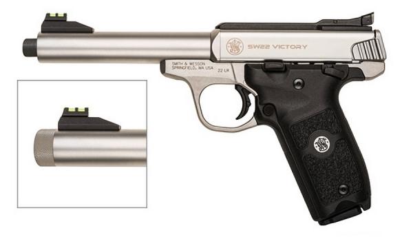 Pistolet SMITH & WESSON SW22 Victory Fileté cal.22Lr