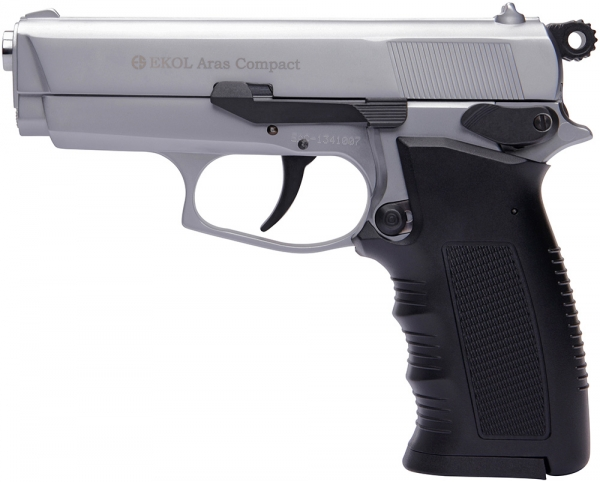 Pistolet d'alarme EKOL Aras Compact mod.85 Chromé Cal.9mm PA