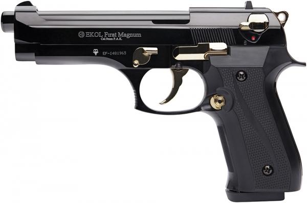 Pistolet d'alarme EKOL Firat Magnum mod.92 Auto Bronzé Gold Cal.9mm PA