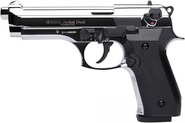 Pistolet EKOL Jackal Dual mod.92 Auto Chrom� Cal.9mm PA (Full Automatique)