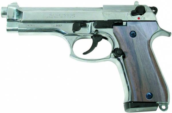 Pistolet KIMAR 92 Auto Nickelé Bois cal.9mm PA