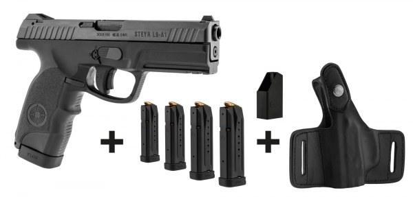 Pistolet STEYR L9-A1 cal.9mm PARA ''Pack 4 chargeurs et holster
