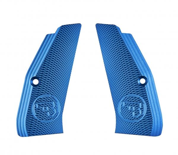 Plaquettes aluminium CZ 75 Shadow SP01 (Bleu)