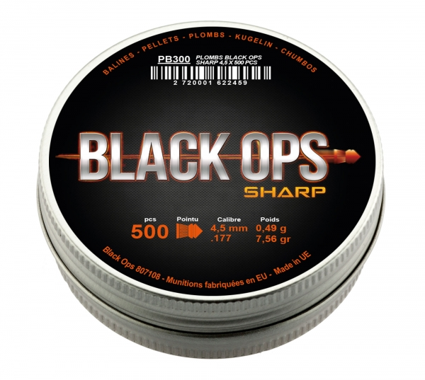Plombs 4.5 BLACK OPS Sharp (pointus)
