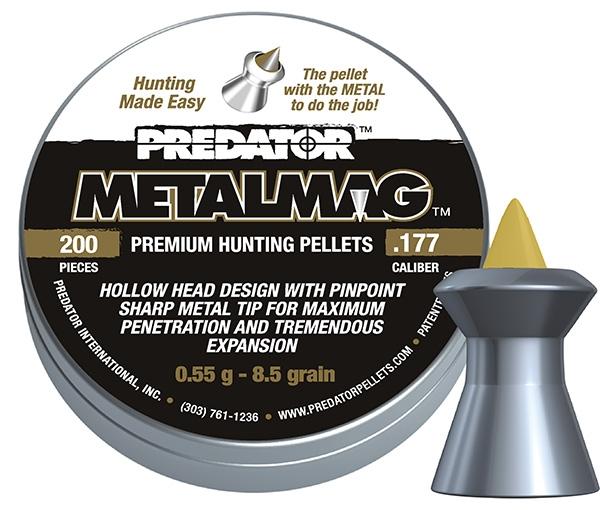 """Plombs 4.5 PREDATOR MetalMag ''Premium Hunting Pellets'' (0,55 gr ) """"Spécial nuisible"""""""
