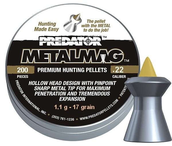 Plombs 5.5 PREDATOR MetalMag ''Premium Hunting Pellets'' (1,1gr )