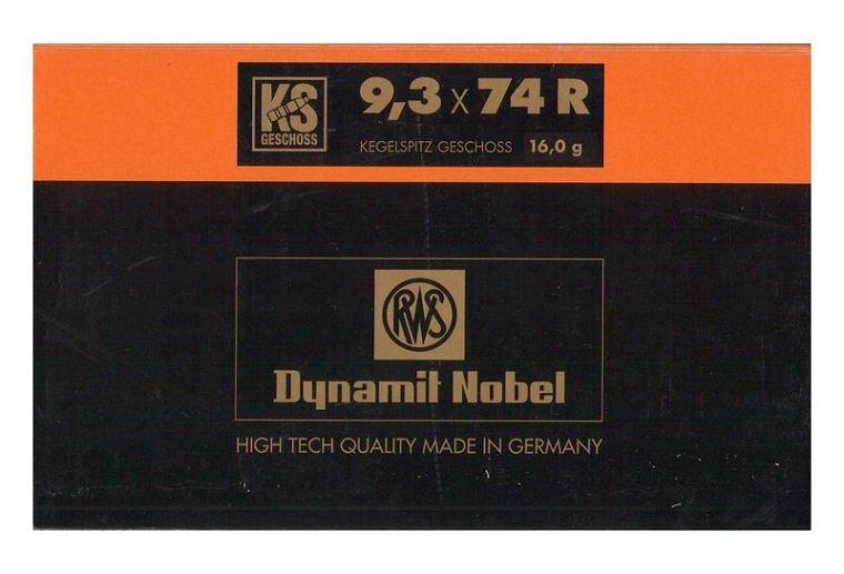 RWS 9,3x74R KS 16g