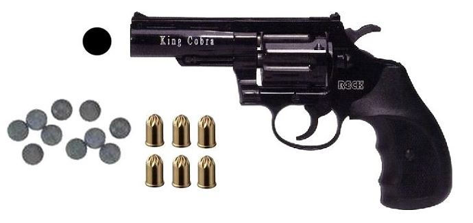 Revolver KING COBRA cal.9mm R UMAREX (50 Cartouches et 20 Balles Caoutchouc)