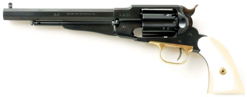 Revolver � Poudre Noire Pietta REMINGTON 1858 Army Bronz� cal.44 (crosse ivoirine)