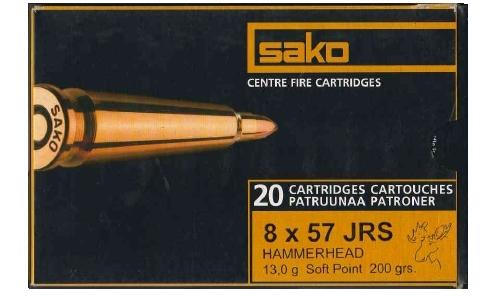SAKO cal.8x57 Jrs HAMMERHEAD 13 gr