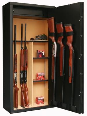 Coffre INFAC Sentinel SD14 11 armes avec lunette + 3 dans la porte - coffre intérieur - étagères (90kg)
