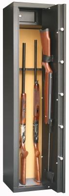 Coffre INFAC Sentinel 6 armes avec lunette + 1 dans la porte - coffre intérieur (53 kg)