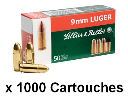 SELLIER BELLOT cal.9 mm PARA FMJ /1000 Cartouches