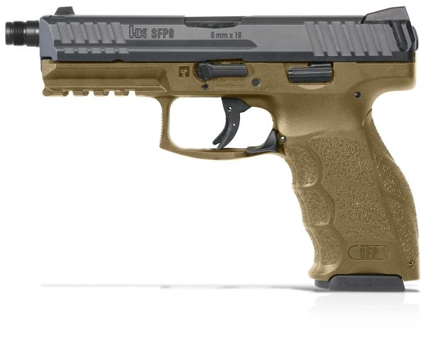 Pistolet HK SFP9-SF SD Tactical Vert cal.9x19