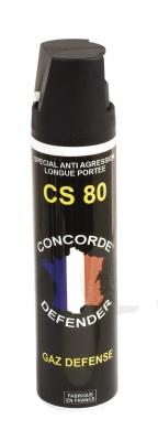 Bombe lacrymogène  Gaz CS 80 - 75 ml