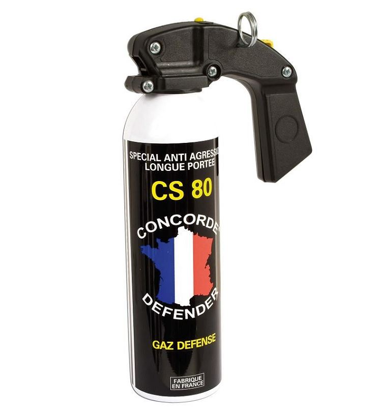 Bombe de d�fense Gaz CS 80 - 500 ml