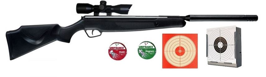Carabine STOEGER X20S Synthétic SUPPRESSOR S2 ''lunette STOEGER 4x32'' Pack Cerise
